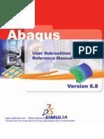 ABAQUS 6_8 USERSUB[1]