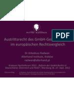 Radwan Ppt Austrittsrecht (26-27.09.2012) Publ