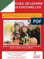 Programme Vacances Toussaint 2012