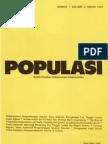 Populasi Volume 2, Nomor 1, Tahun 1991