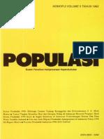 Populasi Volume 3, Nomor 2, Tahun 1992