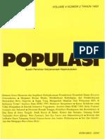 Populasi Volume 4, Nomor 2, Tahun 1993