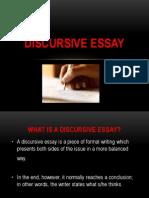Discursive Essay Uib