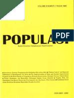 Populasi Volume 6, Nomor 2, Tahun 1995