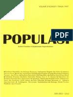 Populasi Volume 8, Nomor 1, Tahun 1997