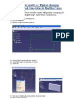 Modify 3D Parts Dimension Change in Drafting CATIA V5