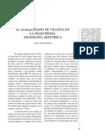 El marquesado de Villena en la Edad Media. Geografía histórica.