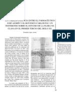 La correspondencia entre el farmacéutico José Azorín y el botánico Carlos Pou