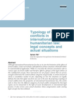Typology of Armed Conflicts in IHL - Sylvain Vite