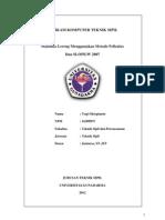 Stabilitas Lereng Menggunakan Metode Fellenius  Dan SLOPE/W 2007