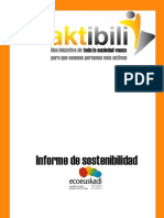 Informe de Sostenibilidad Aktibili