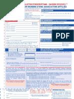 Bulletin d'Inscription Ligue-Ufolep