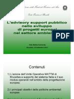 I progetti europei nel settore ambientale - Dott. Carnevale - Ministero Ambiente