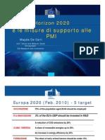 Horizon 2020 e misure di sostegno alle PMI