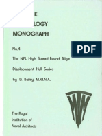 The NPL Round Bilge Displacement Hull Series - Bailey 1976