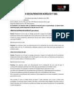 CURSO DE UÑAS ESCULPIDAS EN ACRÍLICO Y GEL
