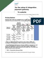 Payment Gateway Details