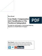 Compensation and Job Classification at The Northwest Independent (Case Study)