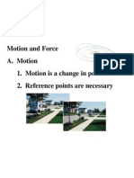 Motion and Force