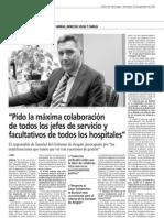 Diario del Alto Aragón entrevista a Ricardo Oliván (30/9/2012)