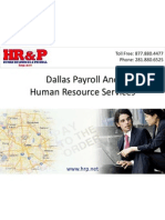 Dallas Payroll Outsourcing And (HR) Human Resource Services For Businesses In Texas
