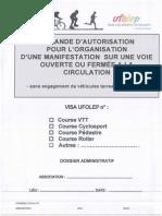 Dossier Autorisation Course