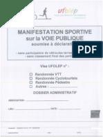 Dossier déclaration course