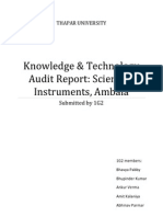 Knowledge & Technology Audit Report