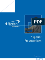 Superior Presentations Blue Paper by promotional products retailer 4imprint