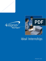 Ideal Internships Blue Paper by promotional products retailer 4imprint