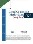 2012 Cloud Computing Market Maturity Study Results