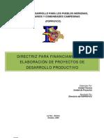 Directriz Para Proyectos de Desarrollo Productivo Aprobada