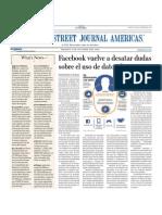 Facebook Vuelve a Desatar Dudas Sobre Uso de Datos de Usuarios