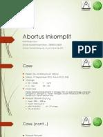 Abortus - Presentasi Kasus