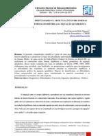 UM ESTUDO DAS DIFICULDADES NA ARTICULAÇÃO ENTRE FORMAS ALGÉBRICAS E FORMA GEOMÉTRICA DA EQUAÇÃO QUADRÁTICA