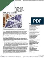 JP Morgan Makes Over Half a Billion Dollars Off Food Stamps