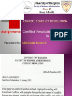 Conflict Resolution Methods in Somaliland