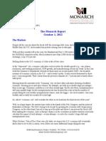The Monarch Report 10/1/2012