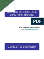 GESTÃ-O DE CUSTOS E CONTROLADORIA