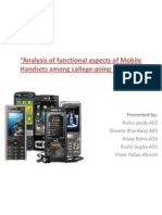 Analysis of Functional Aspects of Mobile Handsets