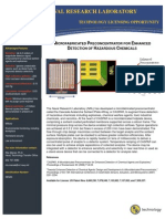 Microfabricated Preconcentrator for Enhanced Detection of Hazardous Chemicals