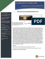 Disposable Elastomer Ozone Detector