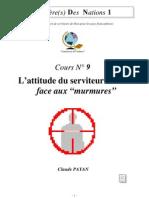 Claude Payan - L'attitude du serviteur de Dieu face aux murmures