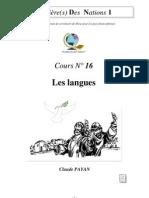 Claude Payan - Les Langues