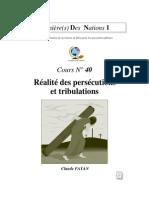 Claude Payan - Réalité des persécutions et tribulations