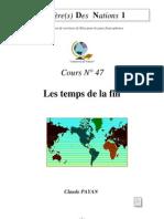 Claude Payan - Les temps de la fin