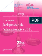 Nicaragua - Tesauro Jurisprudencia Administrativa 2010 - Bertha Xiomara Ortega Carrillo