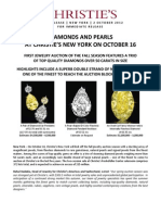 "New York Magnificent Jewels - ""Mega"" Diamonds and Rare Natural Pearls, October 16"