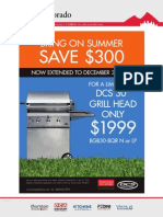 """Save $300 on DCS 30"""" Grill Head"""