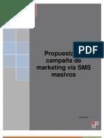 Propuesta de campaña de marketing vía SMS masivos